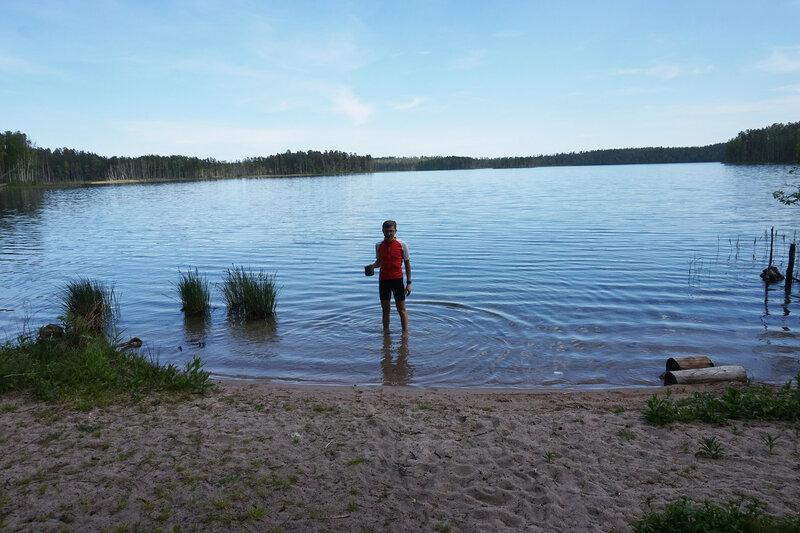 пляж на озере воробьево у приозерска