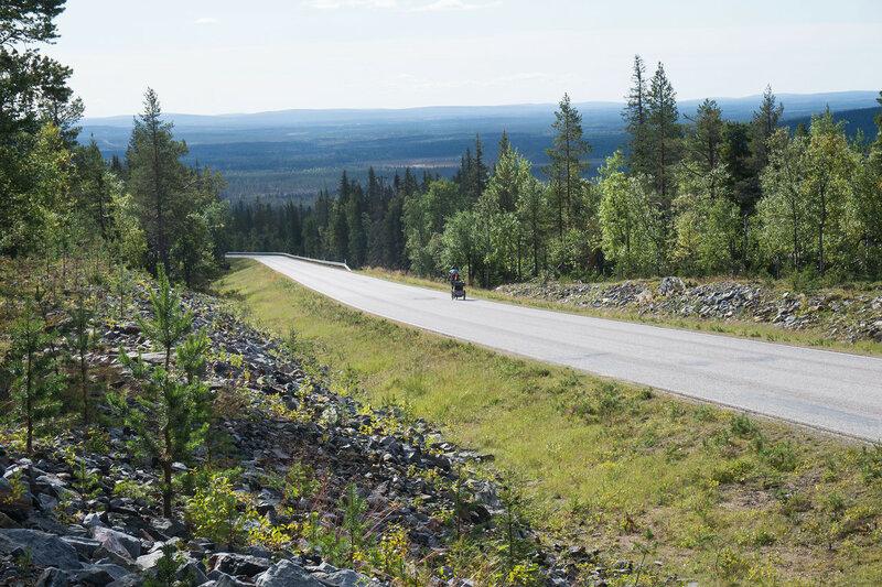 на велосипеде по Ylläs scenic route