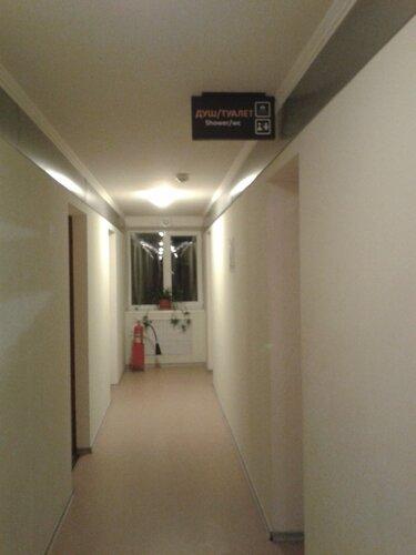коридор ванная отель