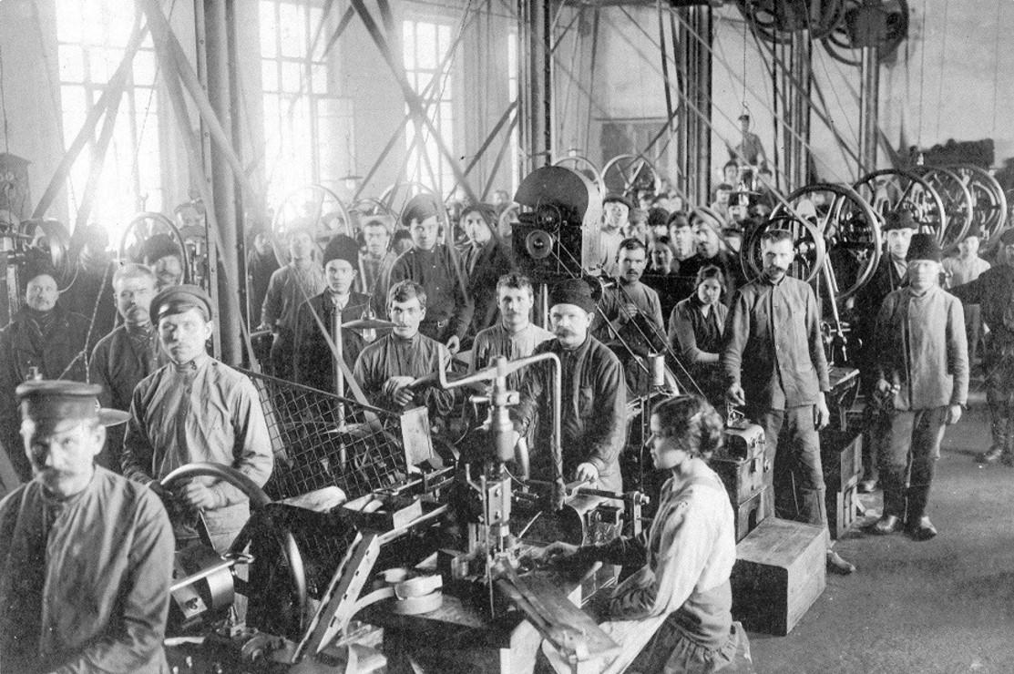 Капсюльная мастерская. 1915