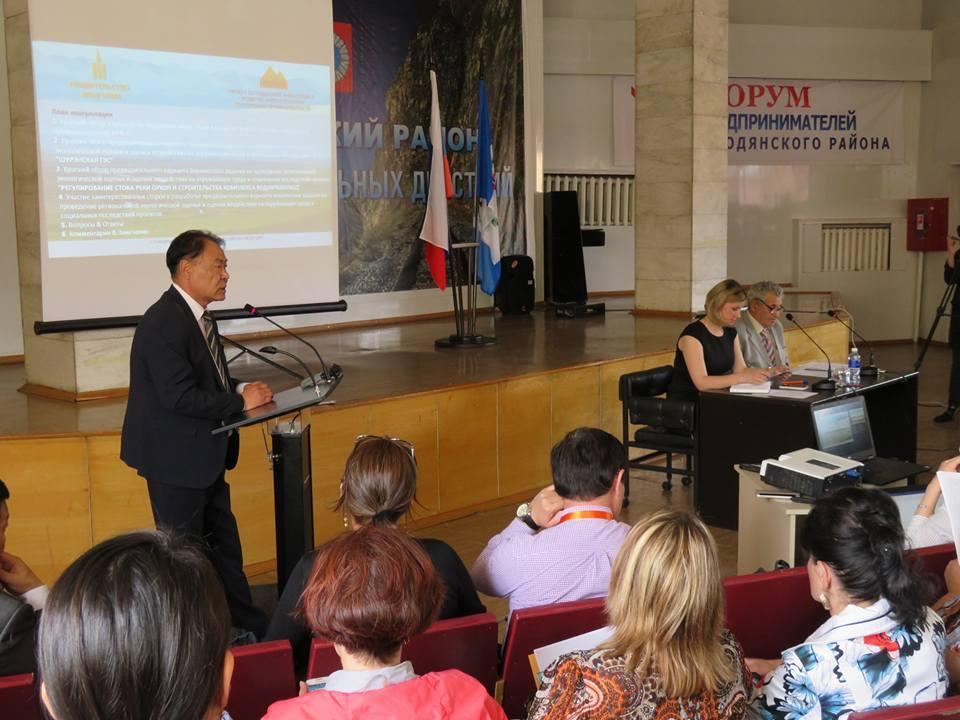 16 мая 2017 г. Общественные слушания по монгольским ГЭС в Слюдянке (Иркутская область). Фото: Александр Колотов
