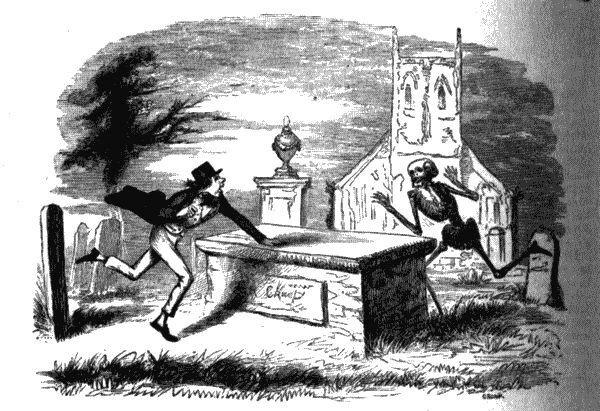 Сцена на кладбище. Рисунок из Энциклопедии острот и юмора, 1864.jpg