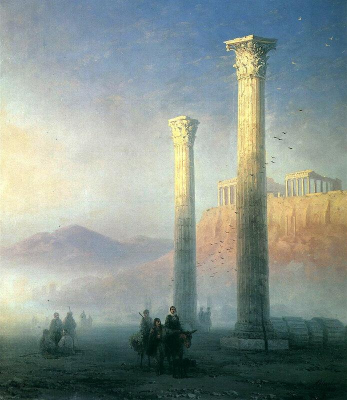 Вид Акрополя, 1883 год