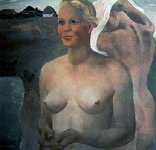 Дейнека Александр Александрович (1899—1969)   Купающиеся девушки
