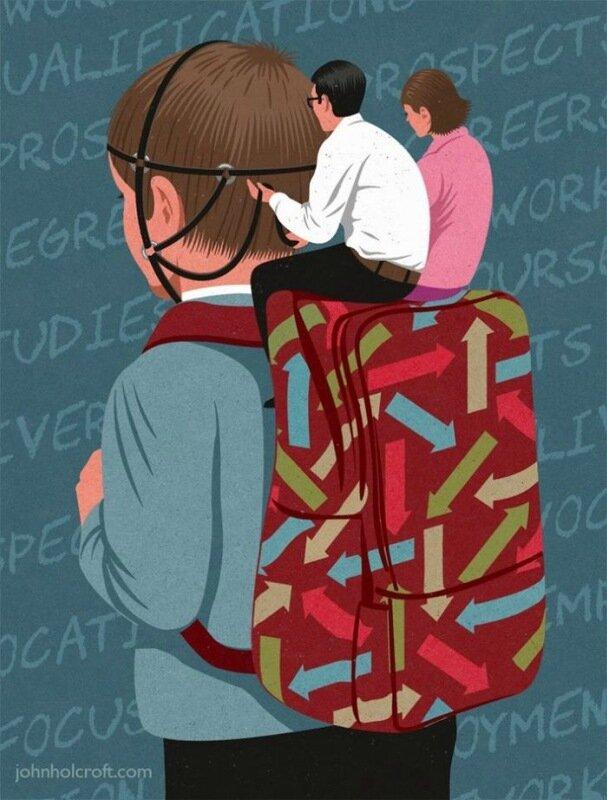 Художник Джон Холкрофт: сатира о злоупотреблении в нашей жизни