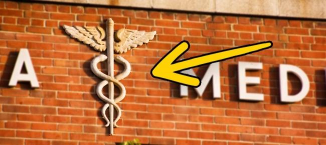 © Craig Moe  Мало кто знает, носимвол медицины, изображающий трость скрыльями идвумя змеями