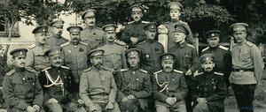 Офицеры_штаба 7-й Армии с командующим Щербачевым Д.Г. 1916 г