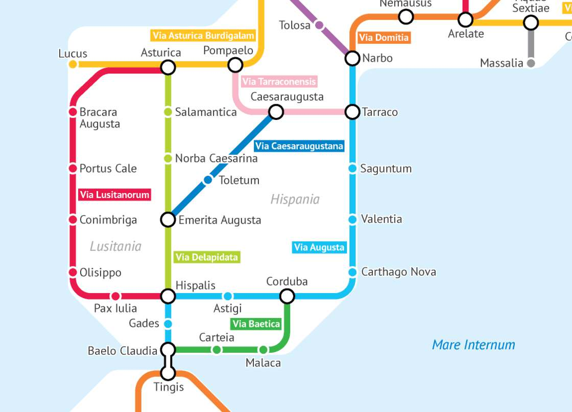 Turning the roads of Roman Empire into a subway map
