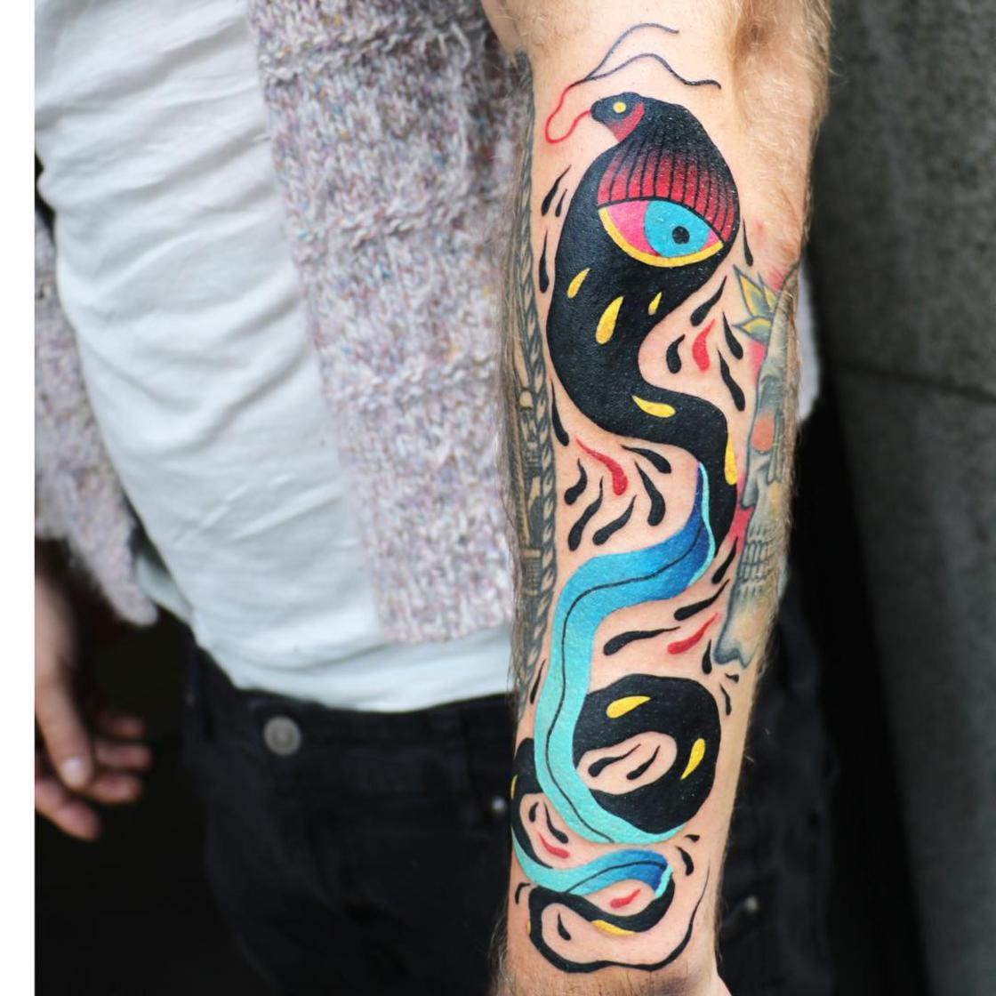 Glitches and Colors - The conceptual tattoos of Aleksy Marcinow