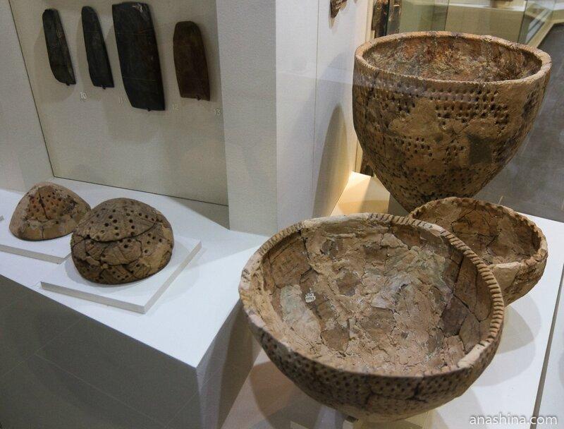 Ямочно-гребенчатая керамика, эпоха неолита, Национальный музей республики Карелия, Петрозаводск