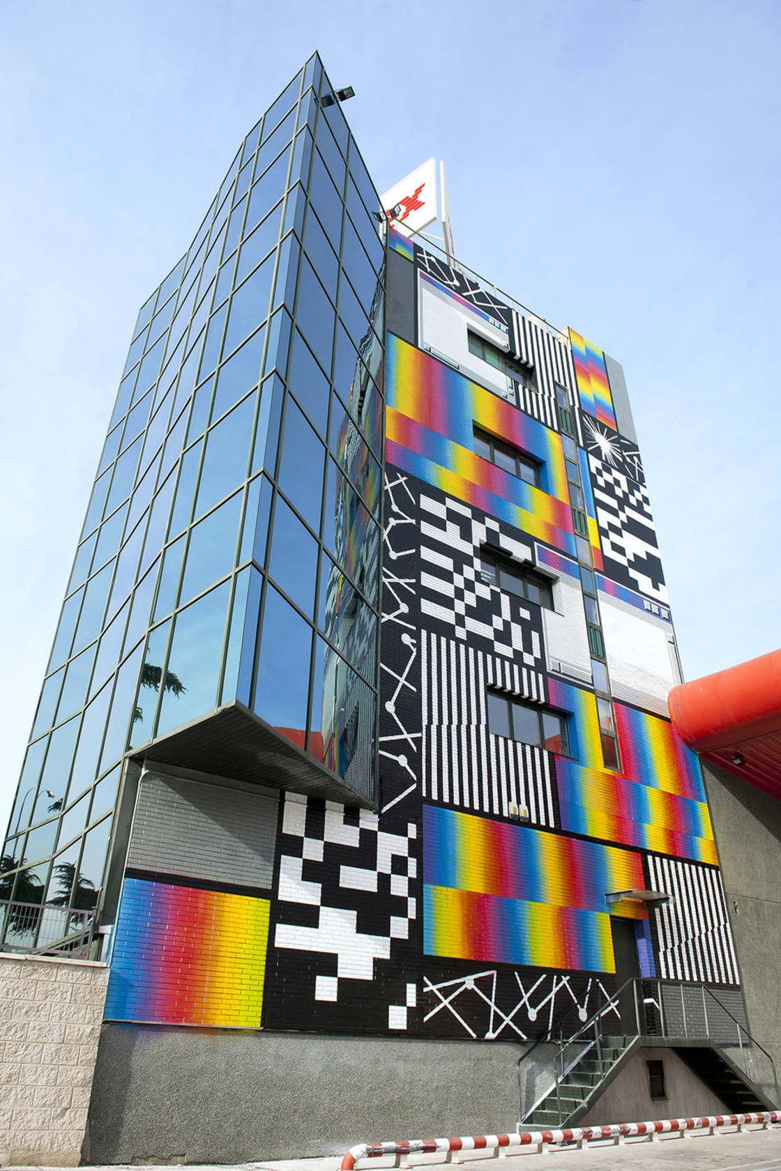 Glitch Art - The latest street art creations by Felipe Pantone