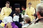16.04.2000 г., Епископ Меркурий после литургии.
