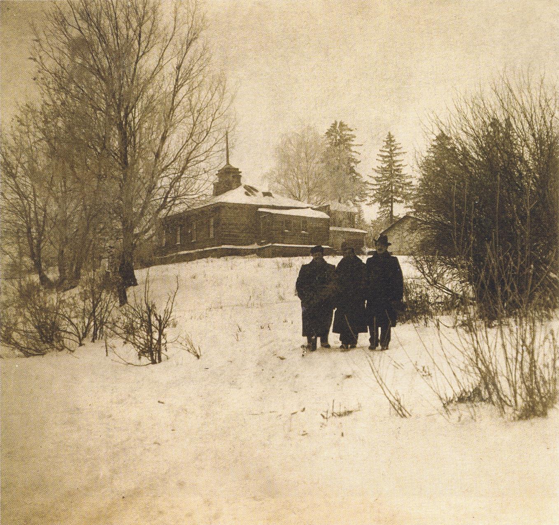 Вид на флигель у пруда. 1880-е.