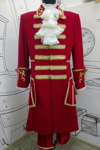 Мужской карнавальный костюм Петр I (красный)