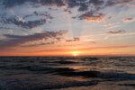 Sunset at North Sea