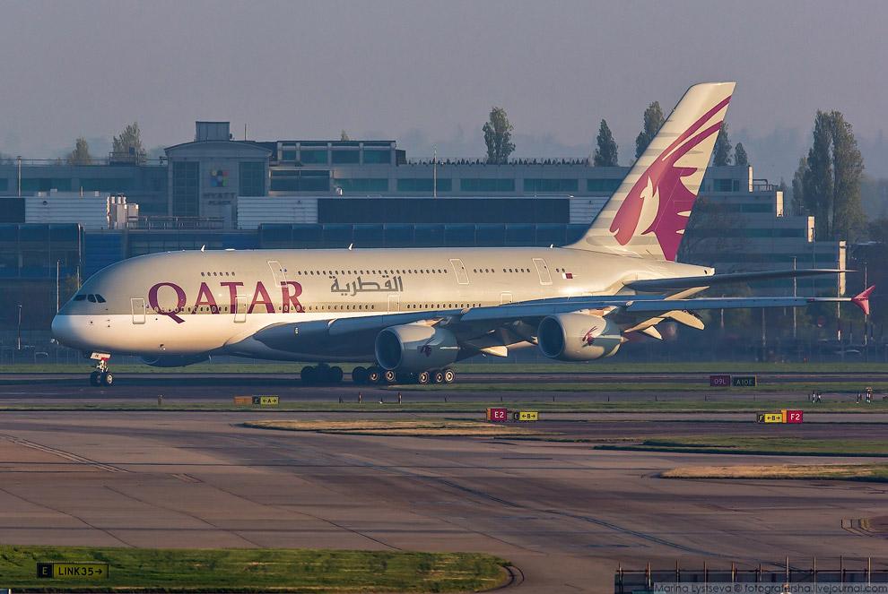 5. Из столицы Катара Дохи авиакомпания летает на А380 в шесть городов: Бангкок, Гуанчжоу, Лондо