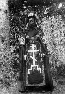 Схимник в монастырском лесу.