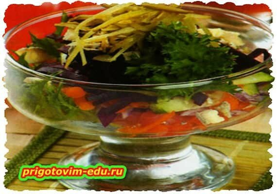 Салат с рыбой в масле