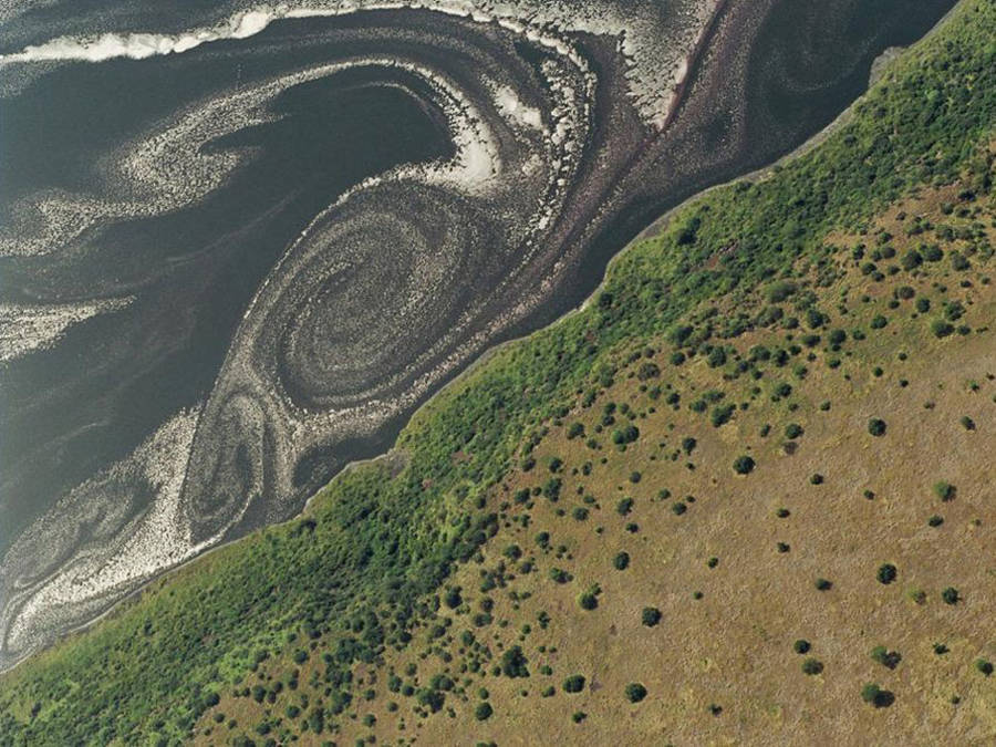 Aerial View of Magadi Lake in Kenya