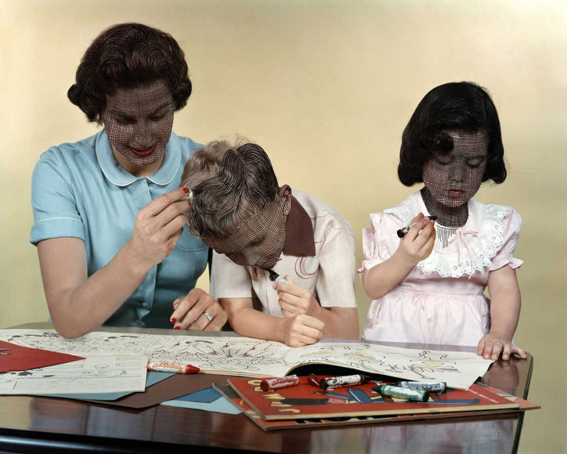 Unhappy Families - The strange collages of Weronika Gesicka
