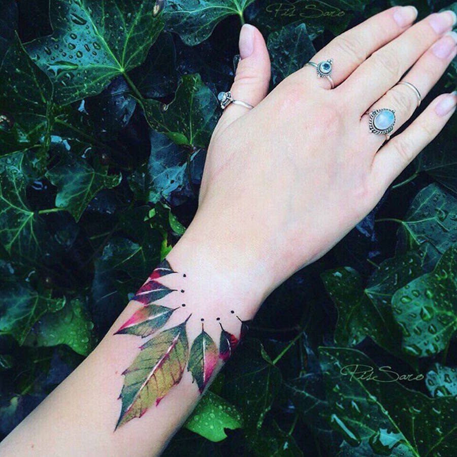 Refined Floral Tattoos