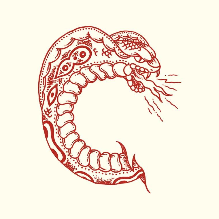 36 Days Of Type - Un joli abecedaire entre tatouage et typographie