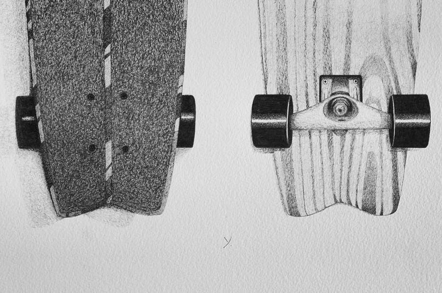 Amazing Fine Black and White Illustrations of Surf Objects