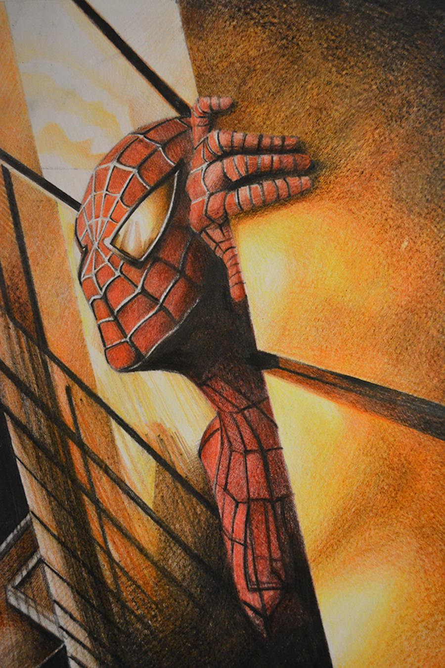 Famous Movie Posters Reproduced with Color Pencils