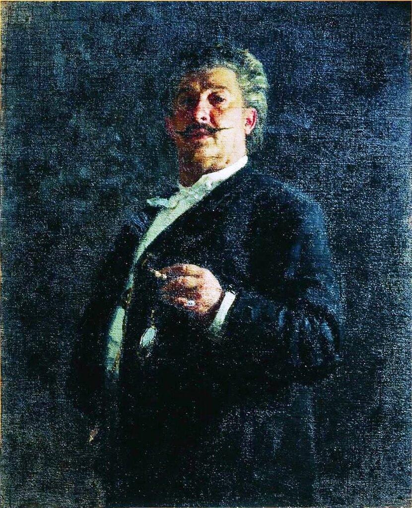 Портрет М.О.Микешина. 1888. Русский художник Илья Ефимович Репин.jpg