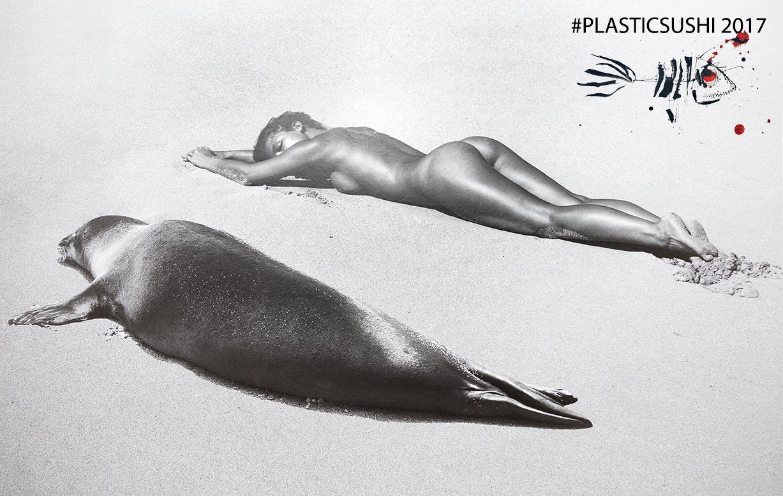 Marisa Papen / Мариса Папен в благотворительном календаре Plastic Sushi 2017 calendar