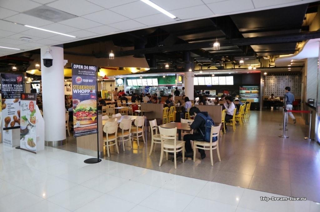 Фудкорт в аэропорте Дон Муанг