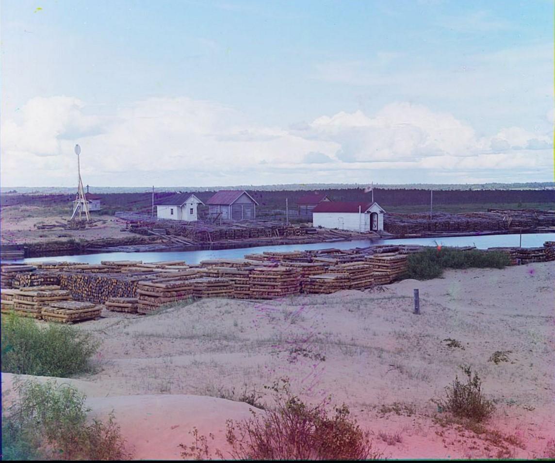 Спасательная станция на Онежском озере. Устье р. Вытегра