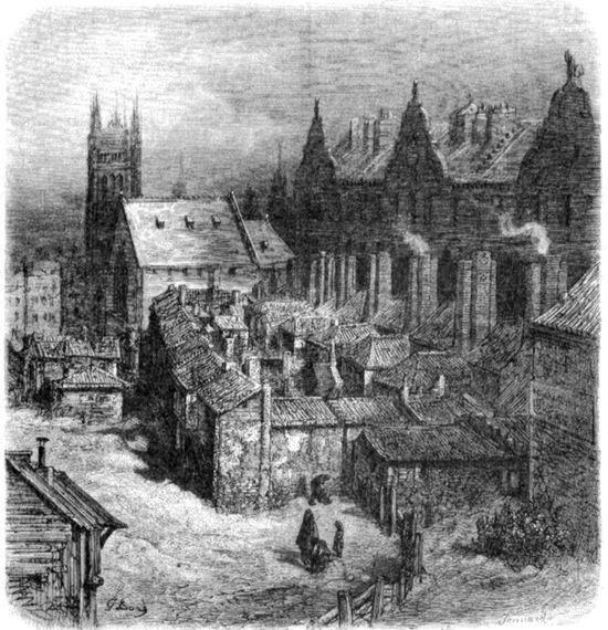 Трущоба Акр Дьявола возле Вестминстерского аббатства. Рисунок Гюстава Доре из книги Паломничество, 1877).jpeg