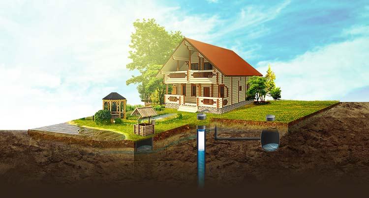 водяная скважина для дома
