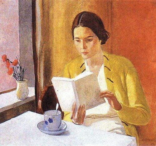 Дейнека Александр Александрович (1899-1969)  Лычева Серафима Ивановна (жена художника Дейнеки А.А.)