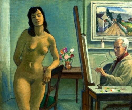 Ernest Fiene Artist And The Model