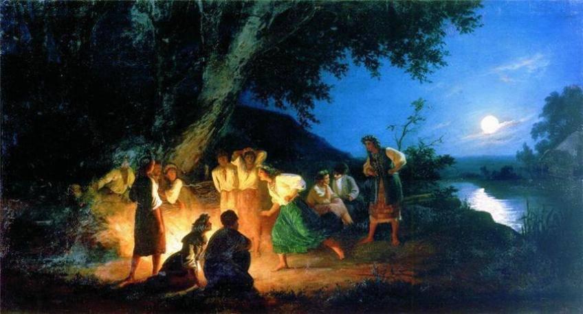 Генрих Семирадский Ночь накануне Ивана Купалы открытки фото рисунки картинки поздравления