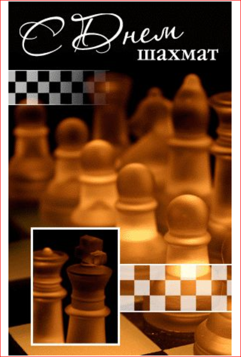 Международный день шахмат. 20 июля. Открытка любителю играть