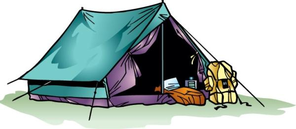Открытка. День туризма. Палатка
