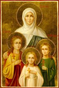 Вера, Надежда, Любовь и мать их София. Лики великомучениц