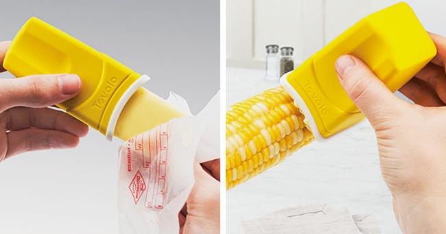© tovolo  Сэтой вещицей ненужно пачкать руки или нож, чтобы намазать маслом что-то горячее,