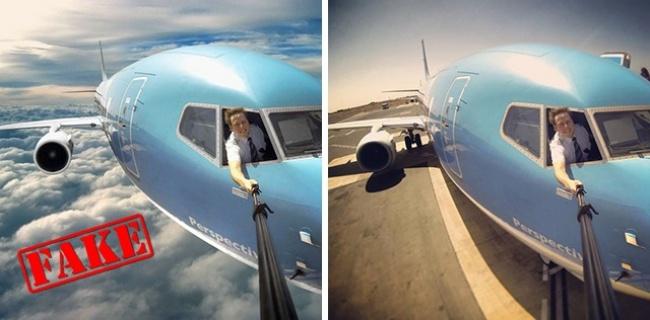© quora  © an-aviation  Фото бесстрашного пилота, который делает невероятное селфи прямо