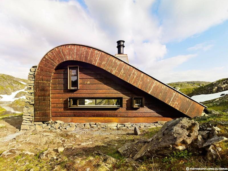 Шале на озере, Хордаланн, Норвегия Главная цель этого проекта заключалась в полной интеграции с ланд