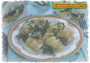 Клейки из картошки с ячневой кашей