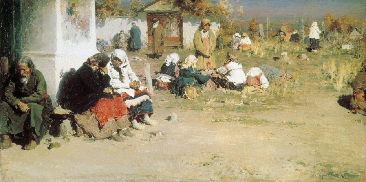 1 Abram Efimovich Arkhipov     Before the Church Service (also known as Radonitsa (before Mass)).jpg