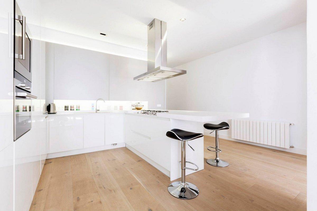 Г-образная кухня в квартире