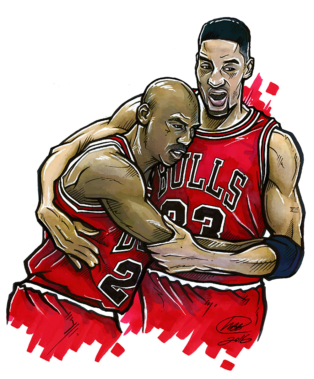 Sports Illustrations by M. Brian Bowens