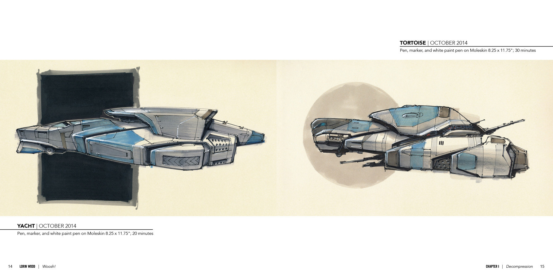 Woosh!: Spaceship Sketches from the Couch