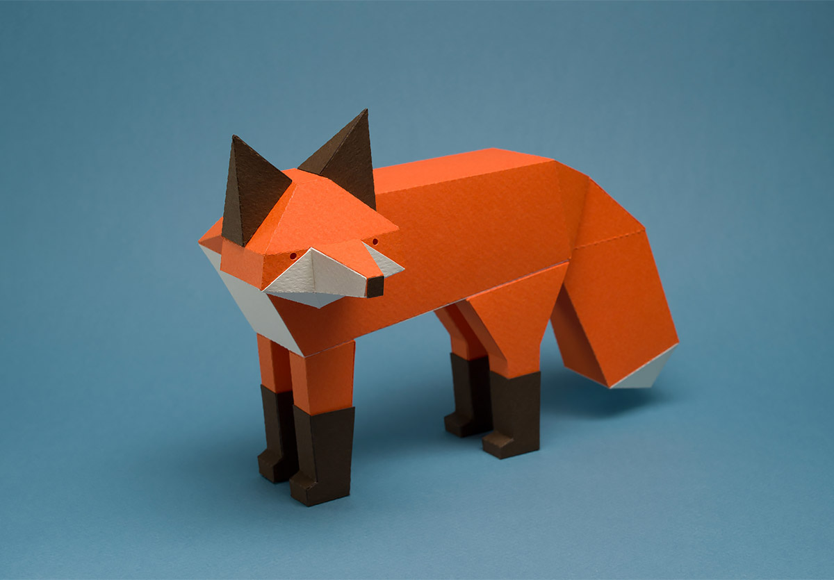 New geometric animals made out of paper by Guardabosques (14 pics)