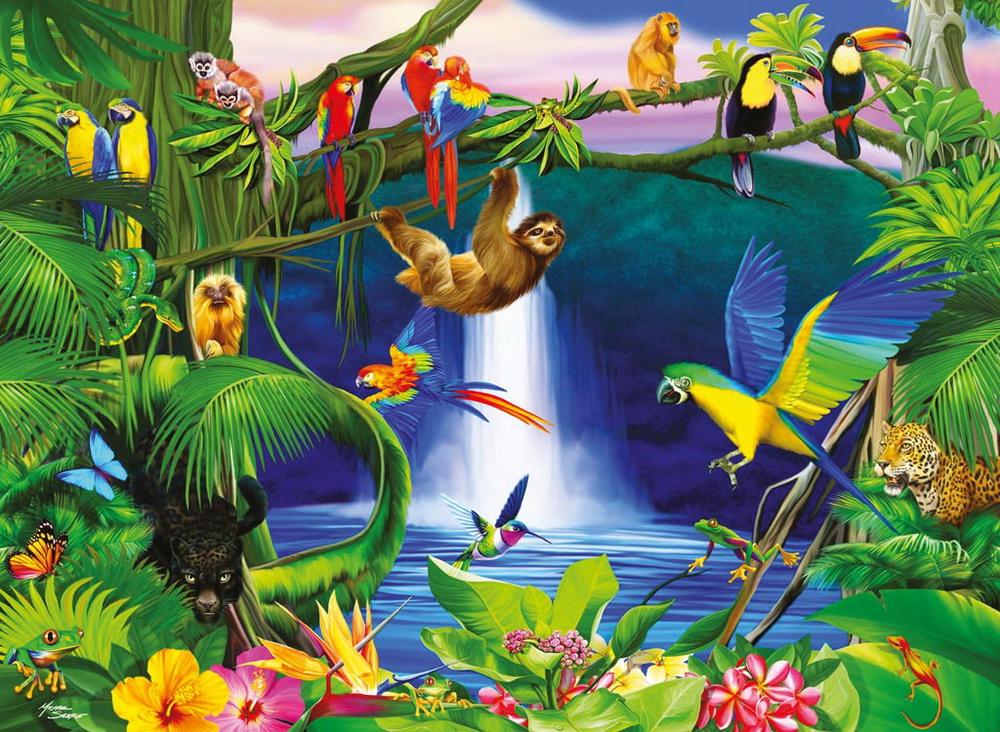 дорогой кафе картинки животные цветы яркие оазис тропики сланец это